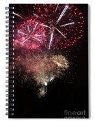 10715 Hamburg Winter Dom Fireworks Spiral Notebook