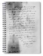 Hamilton: Letter, 1777 Spiral Notebook