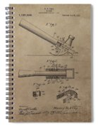 Hammer Patent Drawing Spiral Notebook