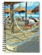 Hammocks And Palapas - Xel-ha Mexico Spiral Notebook
