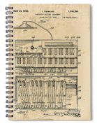 Hammond Organ Patent Spiral Notebook