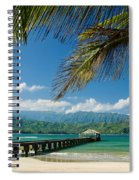 Hanalei Pier And Beach Spiral Notebook