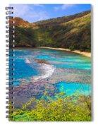 Hanauma Bay In Hawaii Spiral Notebook