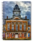 Before It Burned Hancock County Courthouse Art Spiral Notebook