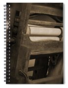 Hand Clothes Wringer Spiral Notebook