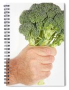 Hand Holding Broccoli Spiral Notebook