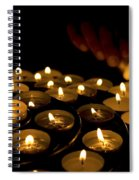 Hand Lighting Candles Spiral Notebook
