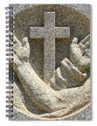 Hands And The Cross Spiral Notebook
