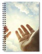 Hands In Sky Spiral Notebook