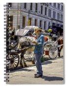 Handsome Hansom Driver  Spiral Notebook