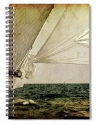 Hanged On Wind In A Mediterranean Vintage Tall Ship Race  Spiral Notebook