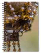 Hanging Beaded Votive Abstract 2 Spiral Notebook