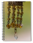 Hanging Beaded Votive Abstract  3 Spiral Notebook