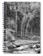 Hanging Bridge In Black And White Spiral Notebook