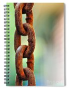 Hanging Chain Before Pastel Bokeh Spiral Notebook