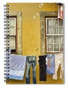 Hanging Clothes Of Old Europe II Spiral Notebook