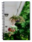 Hanging Flower Baskets On A Porch  Spiral Notebook