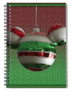 Hanging Mickey Ears 02 Spiral Notebook