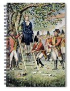 Hanging Of Nathan Hale Spiral Notebook