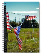 Hanging On - The American Spirit By William Patrick And Sharon Cummings Spiral Notebook
