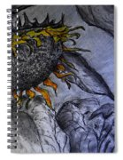 Hanging On To Life - Sunflower Spiral Notebook