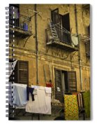 Hanging Out To Dry In Palermo  Spiral Notebook