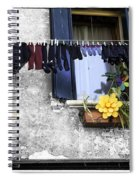 Hanging Out To Dry In Venice 2 Spiral Notebook