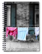 Hanging The Wash In Venice Italy Spiral Notebook