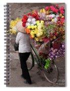 Hanoi Flowers 01 Spiral Notebook