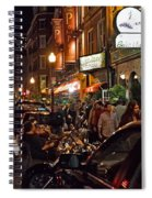 Hanover Street Nights - Boston Spiral Notebook