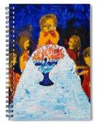 Hanukkah Menorah Spiral Notebook