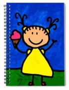 Happi Arte 3 - Little Girl Ice Cream Cone Art Spiral Notebook
