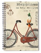 Happiness Is My Bicycle Spiral Notebook