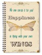 Happinesstypography Spiral Notebook