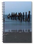 Happisburgh Beach Groynes Spiral Notebook