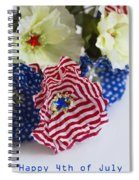 Happy 4th Of July America Spiral Notebook