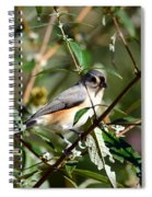 Happy As A Titmouse Spiral Notebook