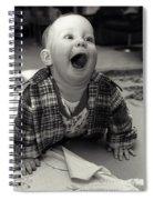 Happy Baby Spiral Notebook