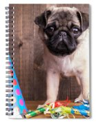 Happy Birthday Cute Pug Puppy Spiral Notebook