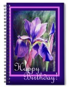 Happy Birthday Iris  Spiral Notebook