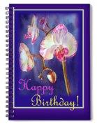 Happy Birthday Orchid Spiral Notebook