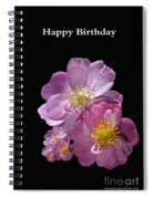Happy Birthday Pink Roses Spiral Notebook