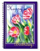 Happy Birthday Poppies Spiral Notebook