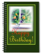 Happy Birthday Tulip Bunch Spiral Notebook
