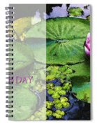 Happy Birthday Water Lily Spiral Notebook