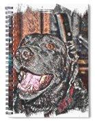 Happy Black Lab  Spiral Notebook