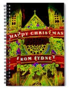 Happy Christmas From Sydney Spiral Notebook
