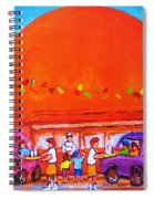 Happy Days At The Big  Orange Spiral Notebook