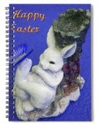 Happy Easter Card 3 Spiral Notebook