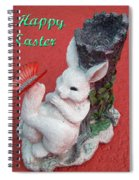 Happy Easter Card 5 Spiral Notebook